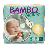 BAMBO NATURE MIDI 3 - Babies from 5 to 9 kg - 33 diapers
