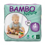 BAMBO NATURE MAXI 4 - Babies from 8 to 18 kg - 30 diapers