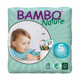 BAMBO NATURE JUNIOR 5 - Baby from 12 to 22 kg - 27 diapers