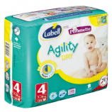 AGILITY LABELL N°4 - Packet of 28 nappies