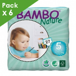 BAMBO NATURE JUNIOR 5 - Baby from 12 to 22 kg - Box of 162 diapers