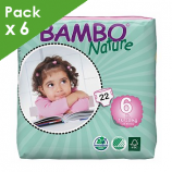 BAMBO NATURE Maxi-X-Plus 6 - Baby from 16 to 30 kg - Box of 132 diapers