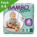 BAMBO NATURE MAXI 4 - Baby from 8 to 18 kg - Box of 180 diapers