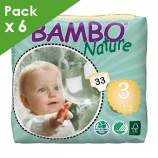 BAMBO NATURE MIDI 3 - Babies from 5 to 9 kg - Box of 198 diapers