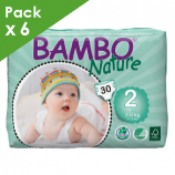 BAMBO NATURE MINI 2 - Babies from 3 to 6 kg - Box of 180 diapers