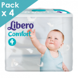 Libero Comfort 4 - Child from 7 to 14 kg - Box of 216 diapers