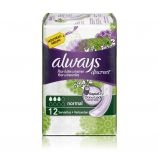 Always Discreet Serviettes Normal - 12 incontinence pads