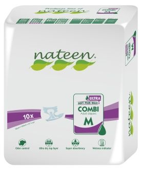 Nateen Combi Super Ultra Medium - 10 All-in-on briefs
