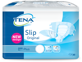 Tena Slip Plus Medium Plastique - 30 langes plastifiés