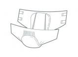 Lille Classic Fit Regular XL - Packet of 21 plasticised all-in-one briefs