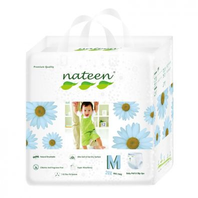 Nateen Baby Pull Ups Medium - from 6 to 11 kg - 20 pull-up pants
