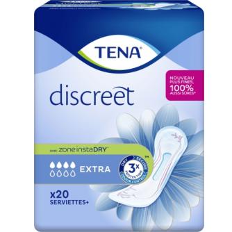 Les 20 serviettes Tena Serviettes discreet extra