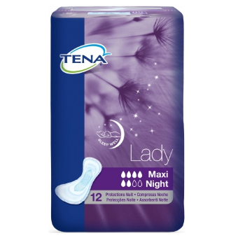 TENA® LADY MAXI NIGHT 12 incontinence pads